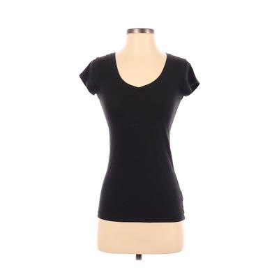 Love Culture Short Sleeve T-Shirt: Black Solid Tops - Size Small
