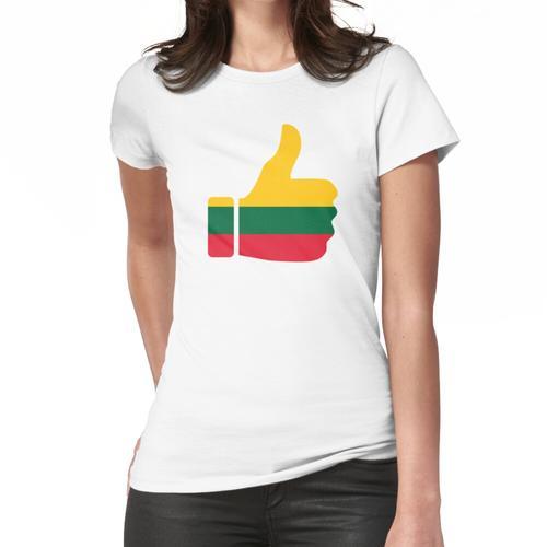Fahnen-Daumen von Litauen Frauen T-Shirt