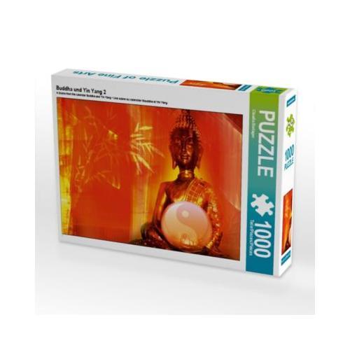 Buddha und Yin Yang 2 Foto-Puzzle Bild von Digital-Art Puzzle