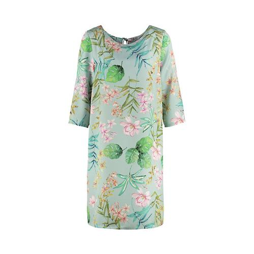 Deerberg Damen Kleid Hermine mint-geblümt