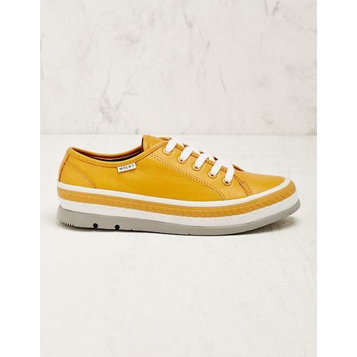 Wolky Damen Leder-Sneaker Minoa curry