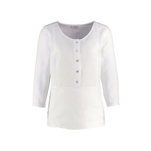 Damen Leinen-Bluse Selinde weiß
