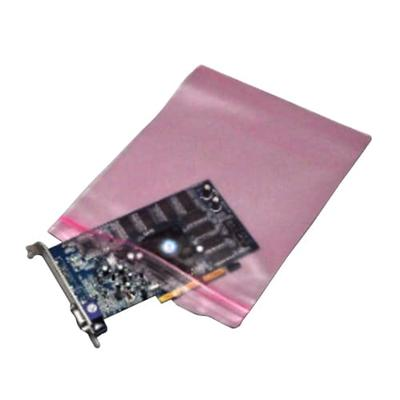 """LK Packaging FASST40408 Resealable Anti Static Bag for Electronic Components - 4"""" x 8"""", LDPE, Pink"""