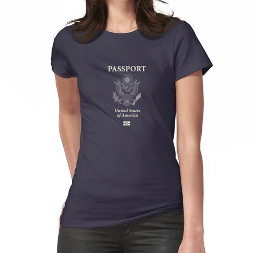 US Biometrischer Pass Frauen T-Shirt