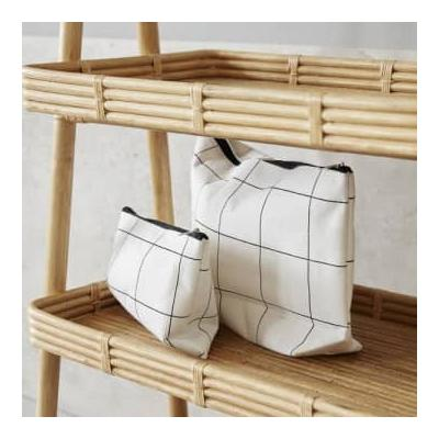 House Doctor - White Toiletries Bag Squares