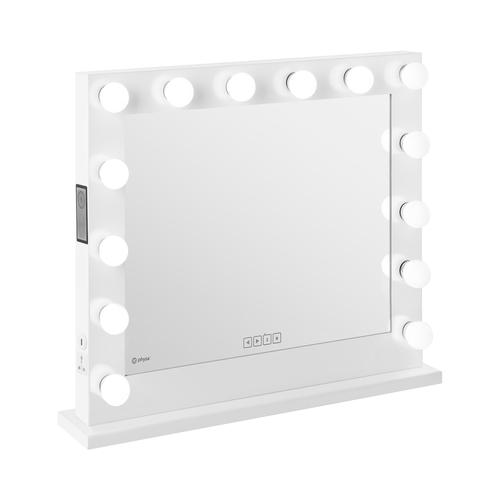physa Hollywood-Spiegel - weiß - 14 LEDs - eckig - Lautsprecher PHY-CMS-8 WHITE