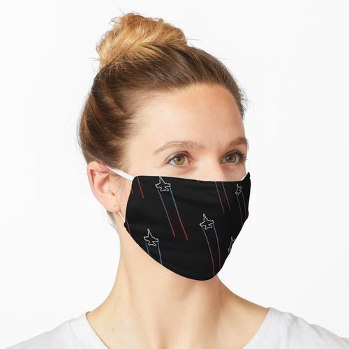 Militärjet mit Rauchspuren Maske