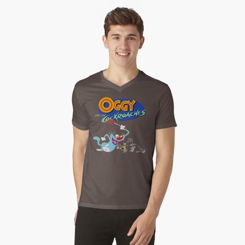 Oggy und die Kakerlaken t-shirt:vneck