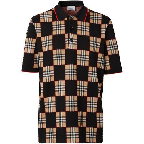 Burberry Poloshirt mit Schachbrettmuster