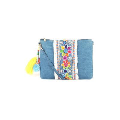 Sam Fashion Crossbody Bag: Blue Floral Bags