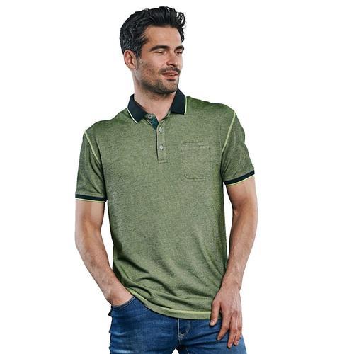 Poloshirt in besonderer Färbung Engbers Signalgrün