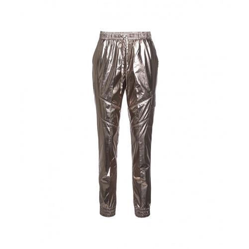 Liu Jo Damen Hose im beschichteten Textil Navetta Gold