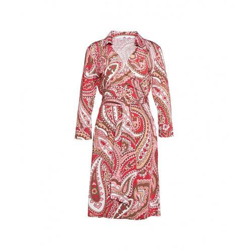 Himons Damen Wickel-Bluse Pink