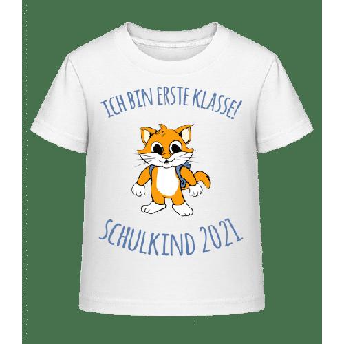 Kleine Katze Mit Schulranzen 2021 - Kinder Shirtinator T-Shirt