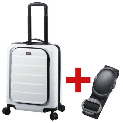 Reisetrolley »S« weiß inkl. Koffergurt weiß, JSA, 39x53x24 cm