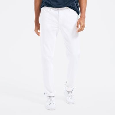 Nautica Men's Straight Fit Denim Bright White, 32x32