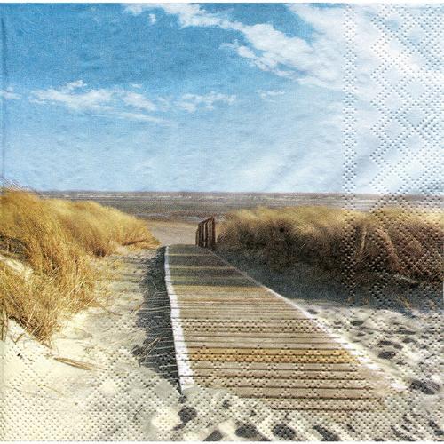 Papierservietten Strand, 33 x 33 cm, 20 Stück