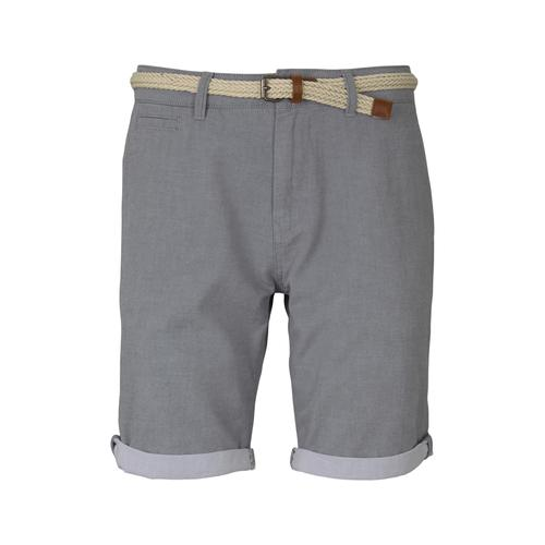 TOM TAILOR DENIM Herren Chino Shorts mit Gürtel , grau, Gr.M