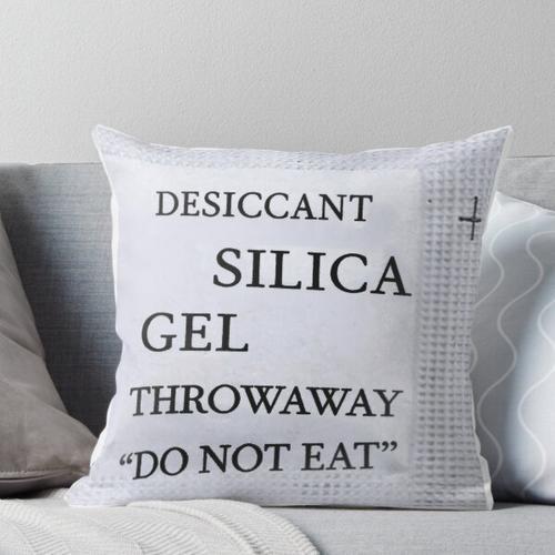 Silica Gel Packet Pack Throw Pillow