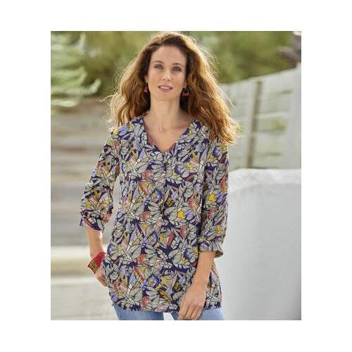 Leichte Bluse mit Allover-Print
