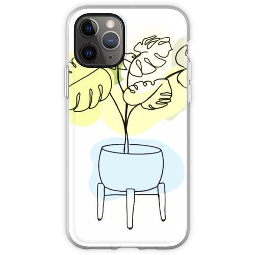 Monstera Zimmerpflanze Flexible Hülle für iPhone 11 Pro
