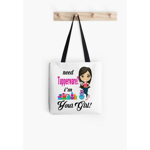 Need Tupperware I'm Your Girl All Over Print Tote Bag