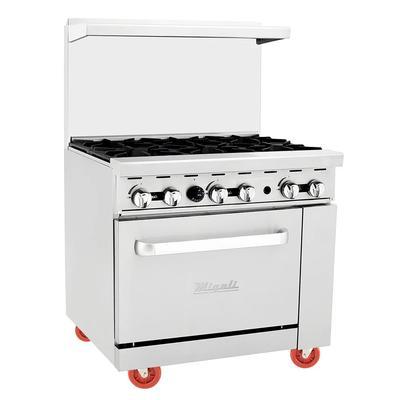 "Migali C-RO6-LP 36"" 6 Burner Gas Range w/ Standard Oven, Liquid Propane"