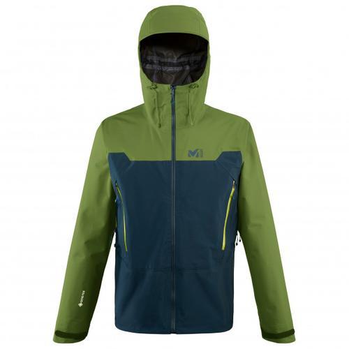 Millet - Kamet Light GTX Jacket - Regenjacke Gr L oliv/schwarz/blau