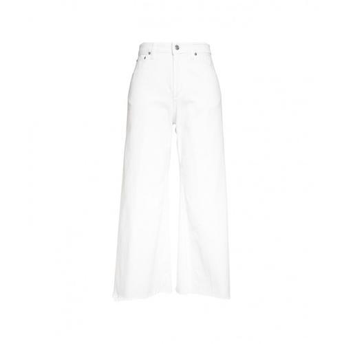 Department 5 Damen Jeans Spear mit ausgefranstem Saum Weiß