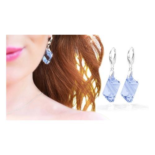 : Ohrringe mit Light Amethyst-Kristallen