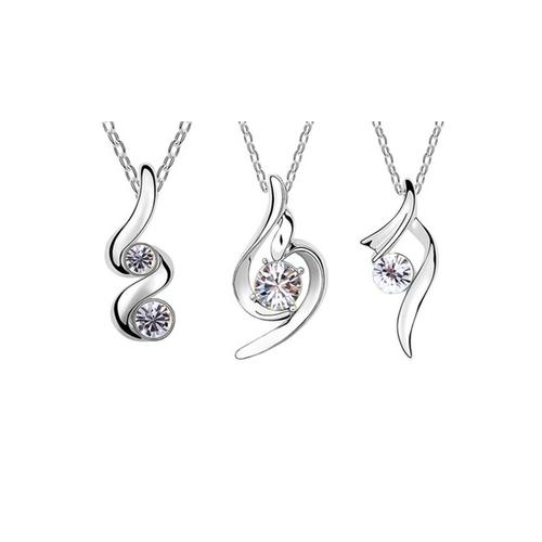 Halskette mit Anhänger mit Swarovski®-Kristallen: Goccia
