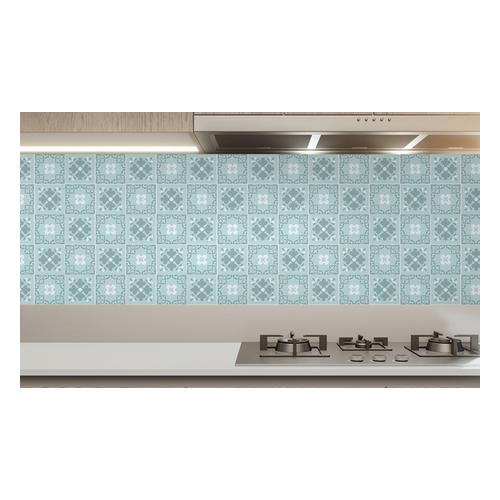 Wand-Aufkleber für Küche: Jan Floral Light Blue Victorian