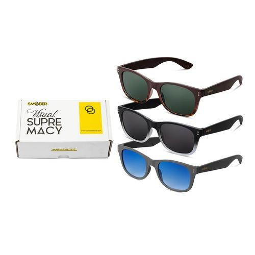 3er-Pack Twig Concept Milano Unisex-Sonnenbrillen Modell: Minimal