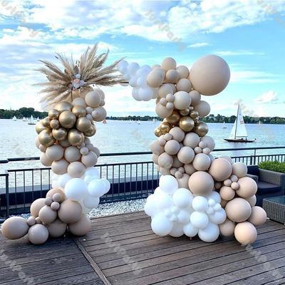 176 pièces Double abricot ballon...
