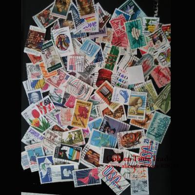 Lot de 100 timbres-poste américa...