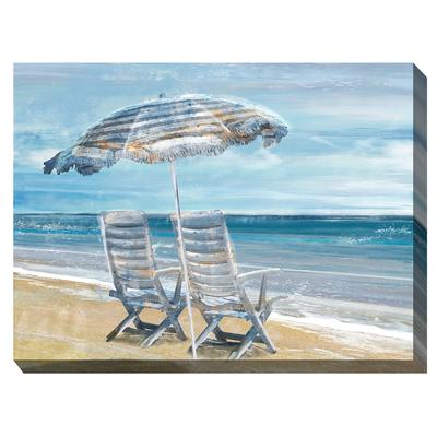 WATERS EDGE OUTDOOR ART 40X30 by West of the Wind in Multi