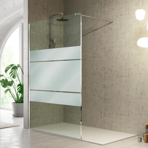 Duschwand FRESH - 100 cm Glas 8mm mit Sichtschutz