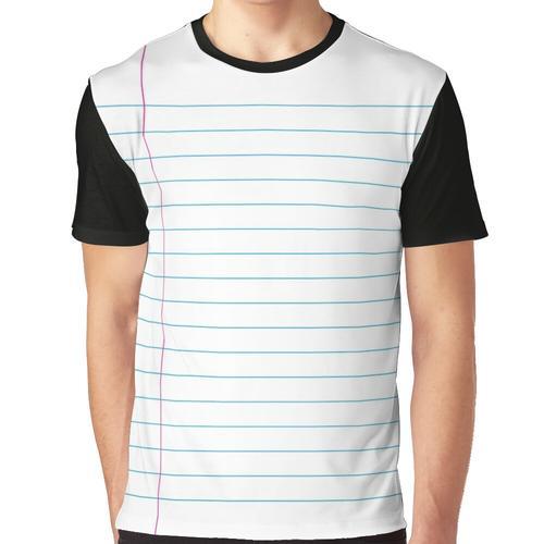 Liniertes Papier Grafik T-Shirt