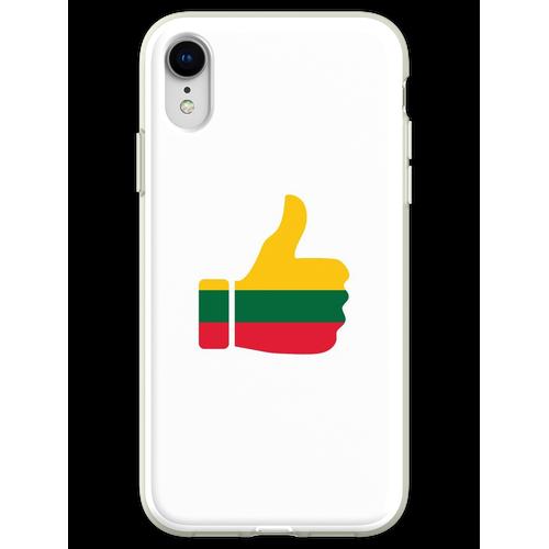 Fahnen-Daumen von Litauen Flexible Hülle für iPhone XR