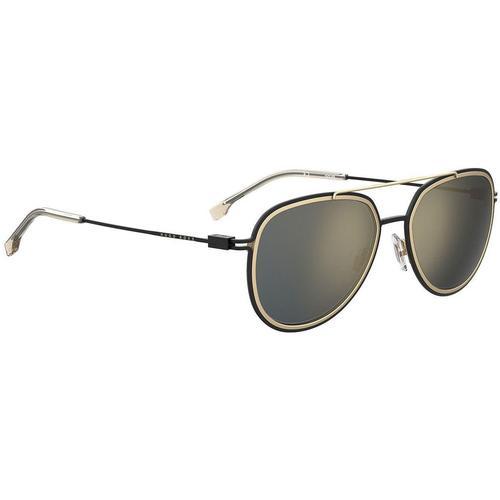 BOSS by Hugo Boss Sonnenbrille mit Doppelsteg und Rand in Schwarz und Gold