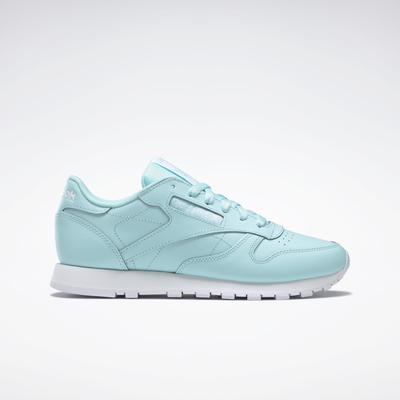 Reebok Women's Classic Leather Shoes in Blue/Digital Glow/White Size 7.5 - Lifestyle Shoes
