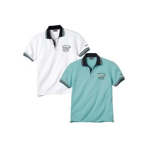 2er-Pack Polo-Shirts im Segelclub-Stil