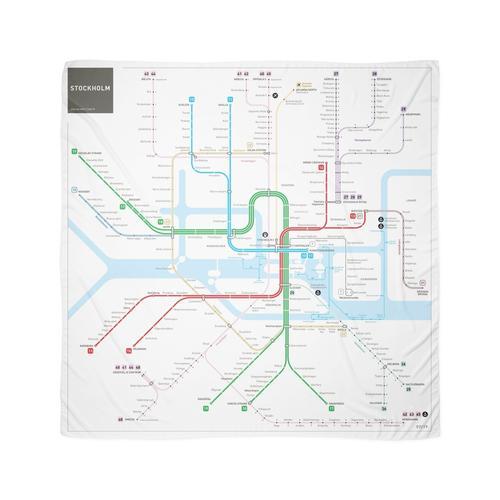 Stockholm Metro Karte Tuch