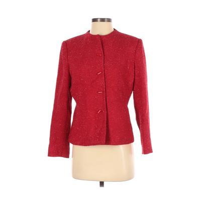Kasper & Company ASL Jacket: Red Jackets & Outerwear - Size 4 Petite