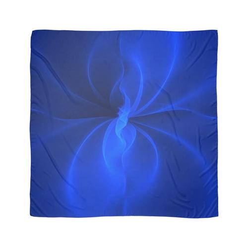 Blaue Seide Tuch