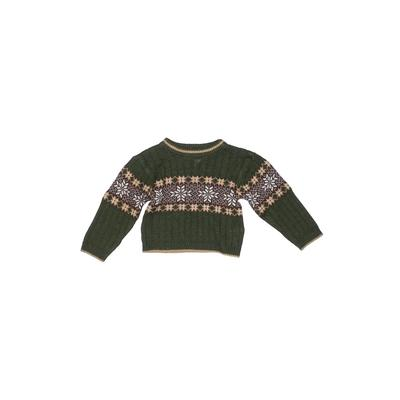B.T. Kids - B.T. Kids Pullover Sweater: Green Tops - Size 18 Month