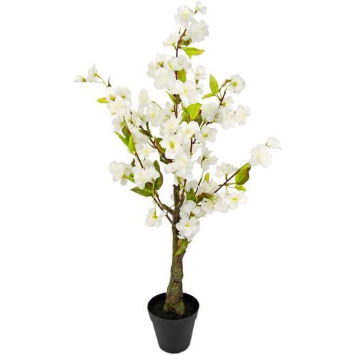 I.GE.A. Kunstbaum Kirschblütenbaum, Im Topf weiß Künstliche Zimmerpflanzen Kunstpflanzen Wohnaccessoires