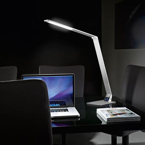 FABAS LUCE Wasp USB LED Tischleuchte mit Dimmer und Farbtemperatur einstellbar B: 100 H: 106 cm, aluminium gebürstet 3265-30-212, EEK: A+