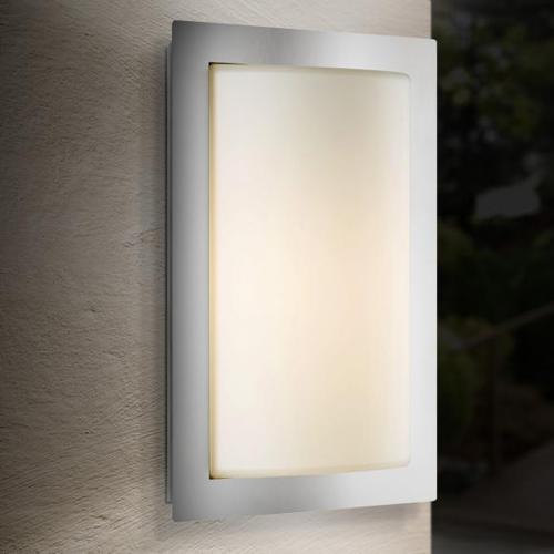 LCD 043SEN Wandleuchte mit Bewegungsmelder B: 19,5 H: 31 T: 9,5 cm, edelstahl/weiß 043SEN, EEK: A++