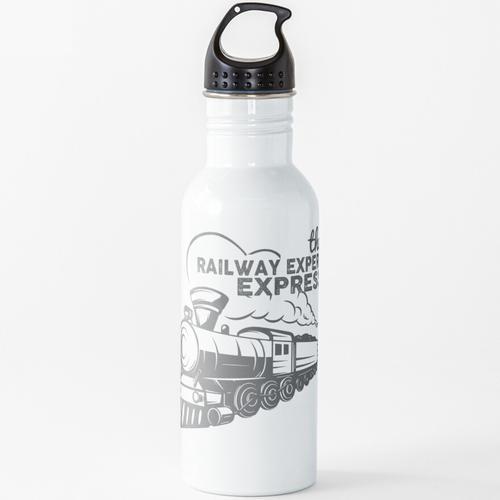 Eisenbahn Zug Lokomotive Eisenbahnliebhaber Wasserflasche